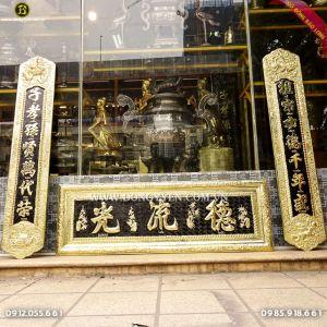 Đại Tự Câu Đối bằng đồng vàng 1m27 cho khách tp Nam Định