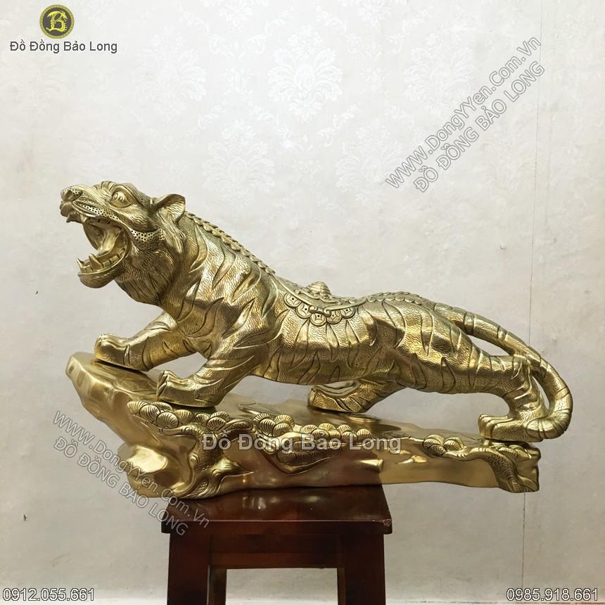 Tượng Con Cọp - Con Hổ Bằng Đồng Cát Tút 61cm