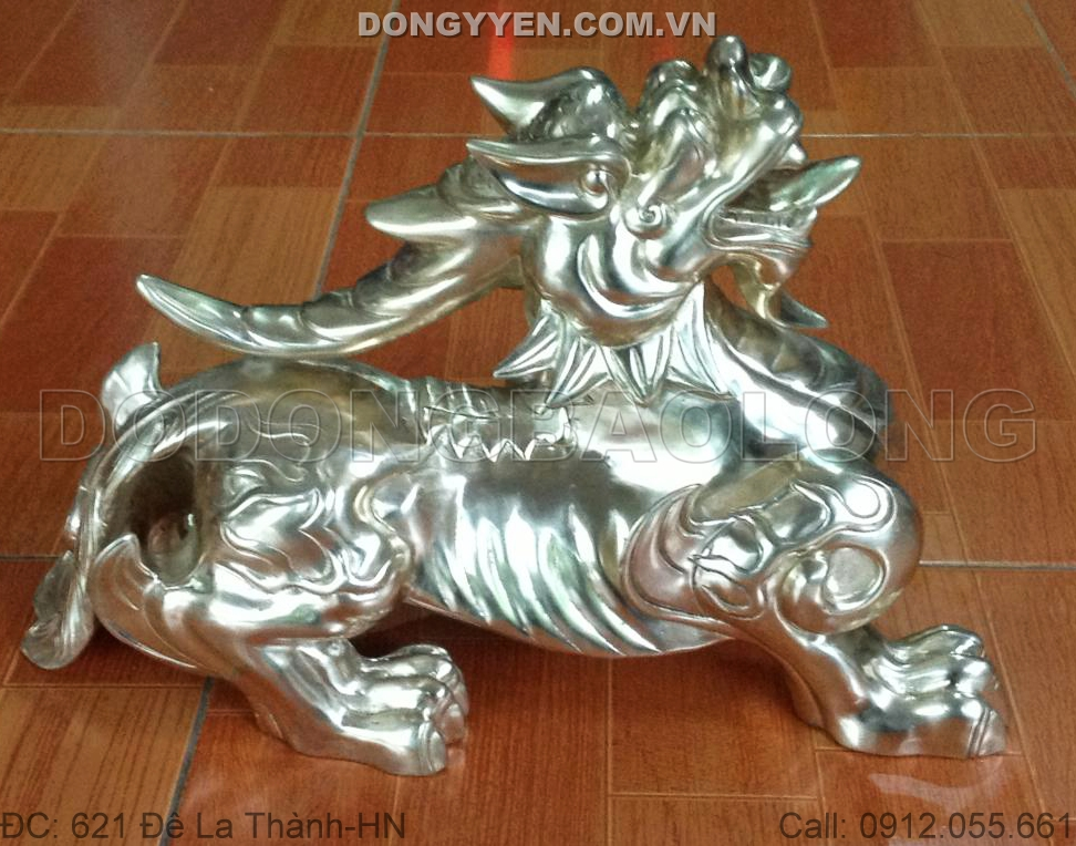 Tỳ Hưu Phong Thủy Bằng Đồng 43cm