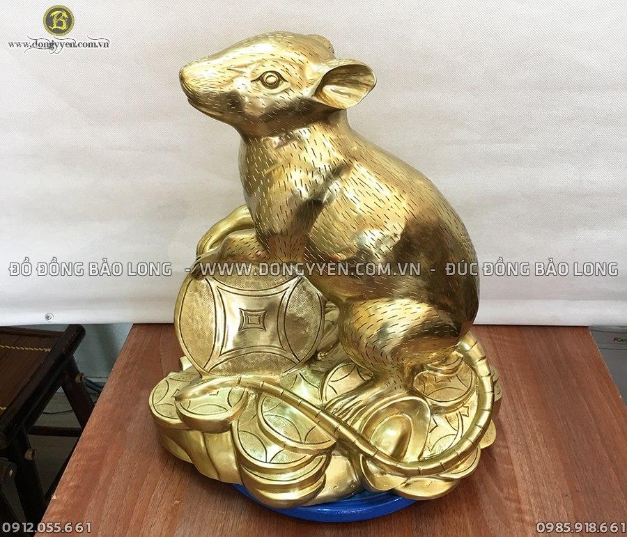chuột phong thủy cao 41cm đúc bằng đồng katut