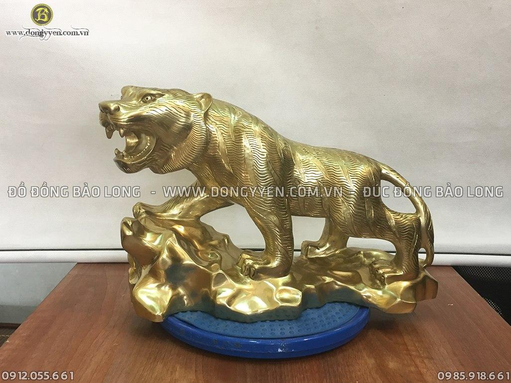 hổ phong thủy bằng đồng katut 40cm