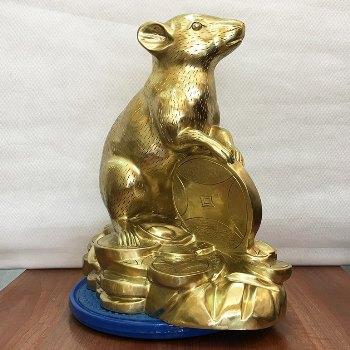 Chuột Phong Thủy Đồng Katut 41cm