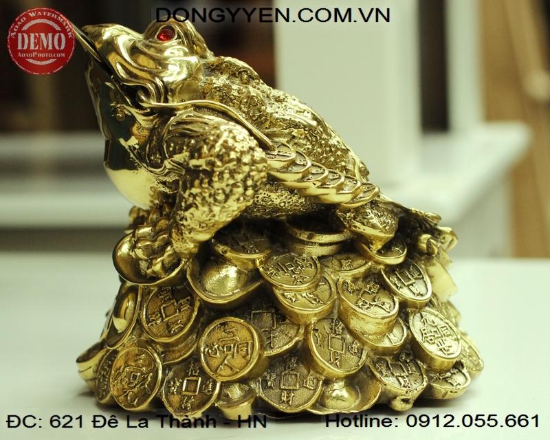 Cóc Ngậm Tiền Bằng Đồng 14cm