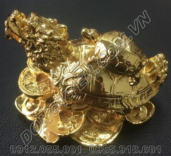 Rùa Đầu Rồng - Long Quy Mạ Vàng 24K