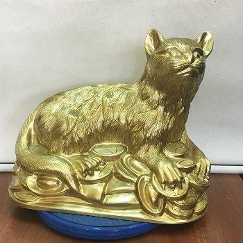 Mèo Phong Thủy Đồng Katut 38cm