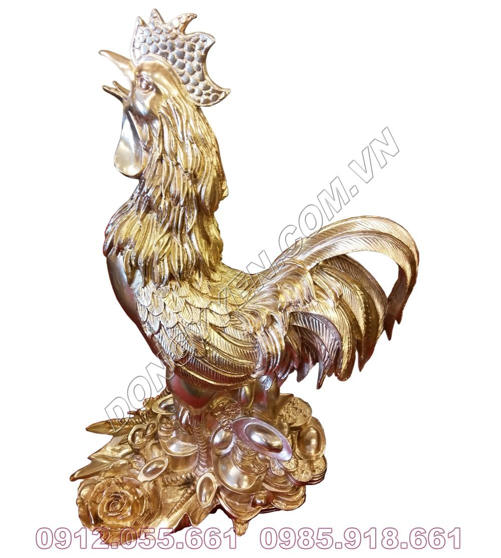 Tượng Đồng Gà Trống - Kim Kê, Gà Phong Thủy