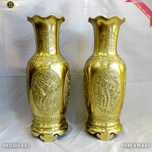 Bình Bông Tứ Quý Bằng Đồng Katut 70cm