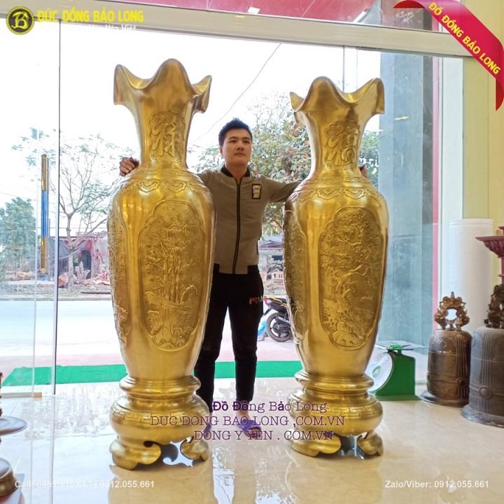 Đôi Lộc Bình Bằng Đồng Catut 1m76 Hàng Độc Tại Việt Nam