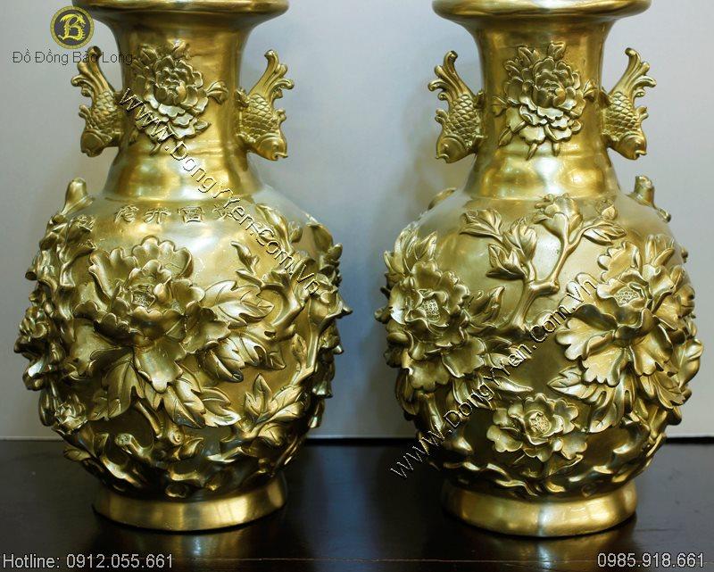 Đôi Lọ Hoa Cúc Phú Quý Hoa Khai 32cm