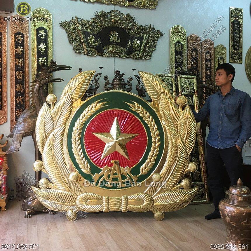 Lô Gô Ngành Công An Bằng Đồng 1m6