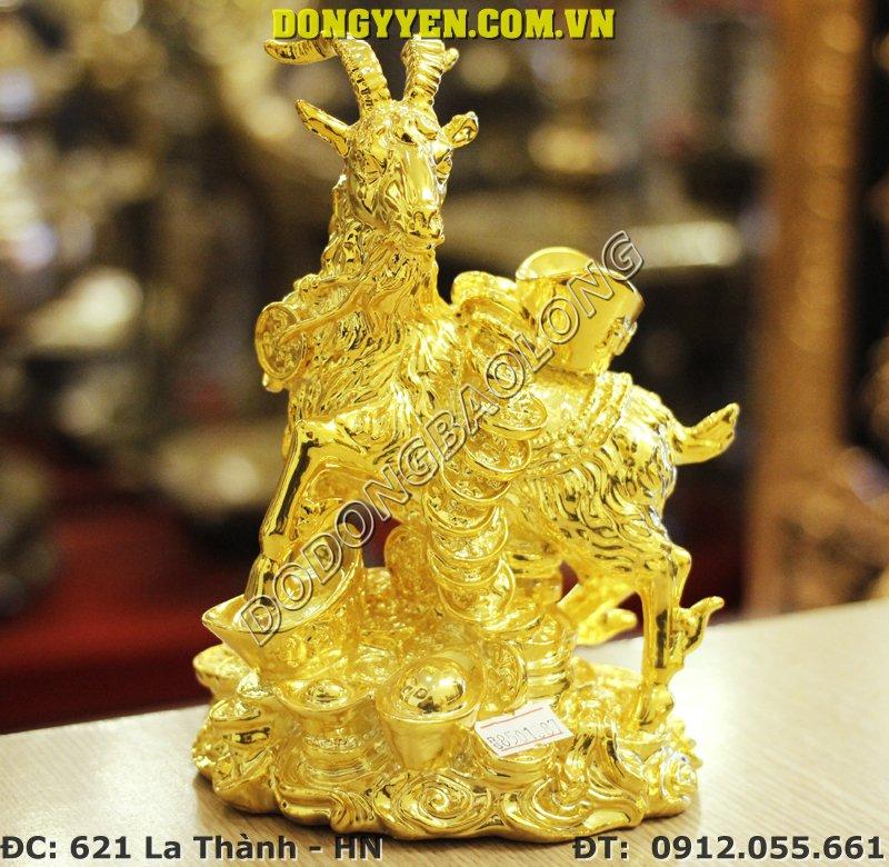 Dê Đồng Mạ Vàng 24K - Dê Phong Thủy Mạ Vàng - Quà Tặng 2015