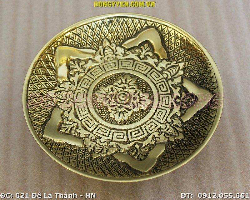 Đĩa Đựng Trầu Cau Bằng Đồng 16cm