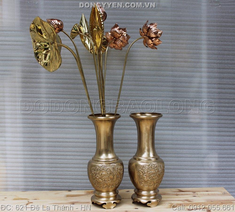 Lọ Đồng Hoa Cúc Cao 38cm
