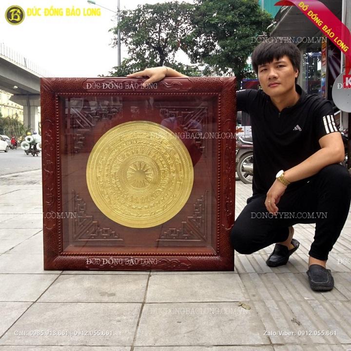 Tranh Trống Đồng Mạ Vàng 24k, Dát Vàng 9999