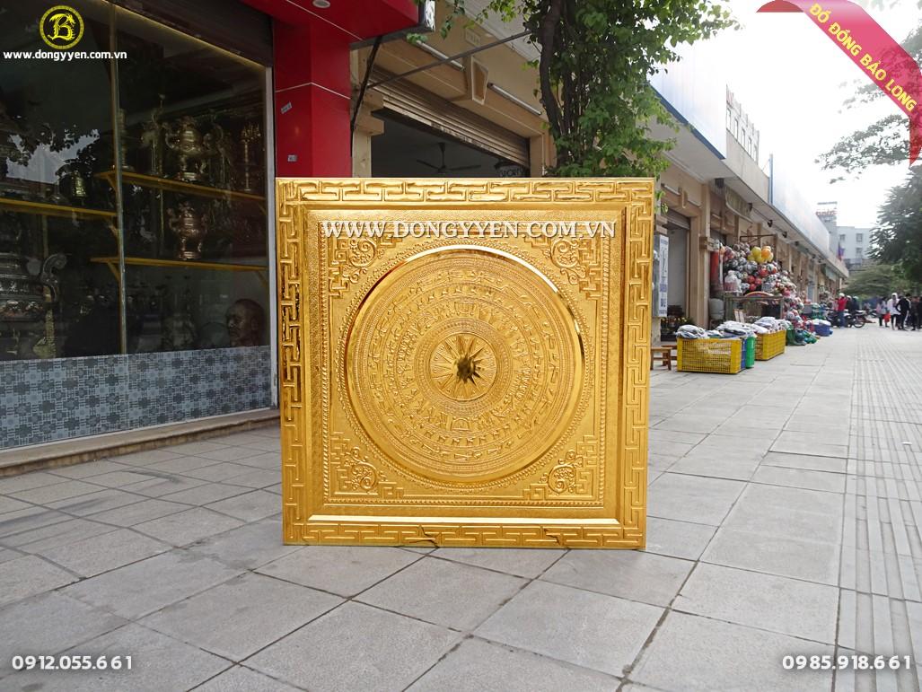 tranh mặt trống mạ vàng 24k 1m33