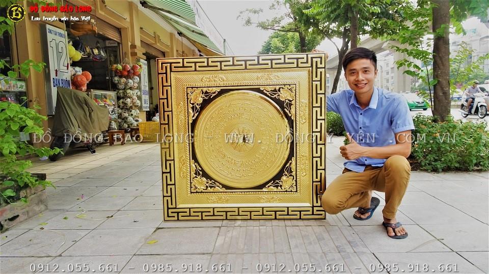 mặt trống đồng mạ vàng 24k