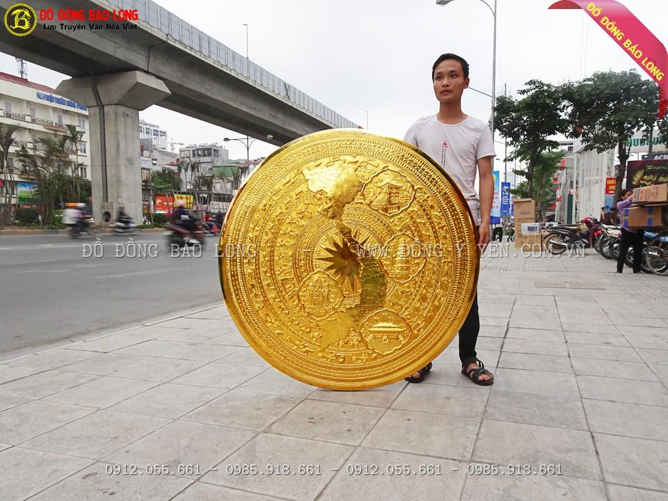 hoa văn trên Mặt trống đồng bản đồ 1m27 mạ vàng là hoa văn Đông sơn