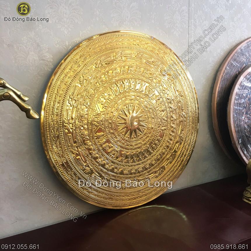 Mặt Trống Đồng Đúc Mạ Vàng DK 60cm