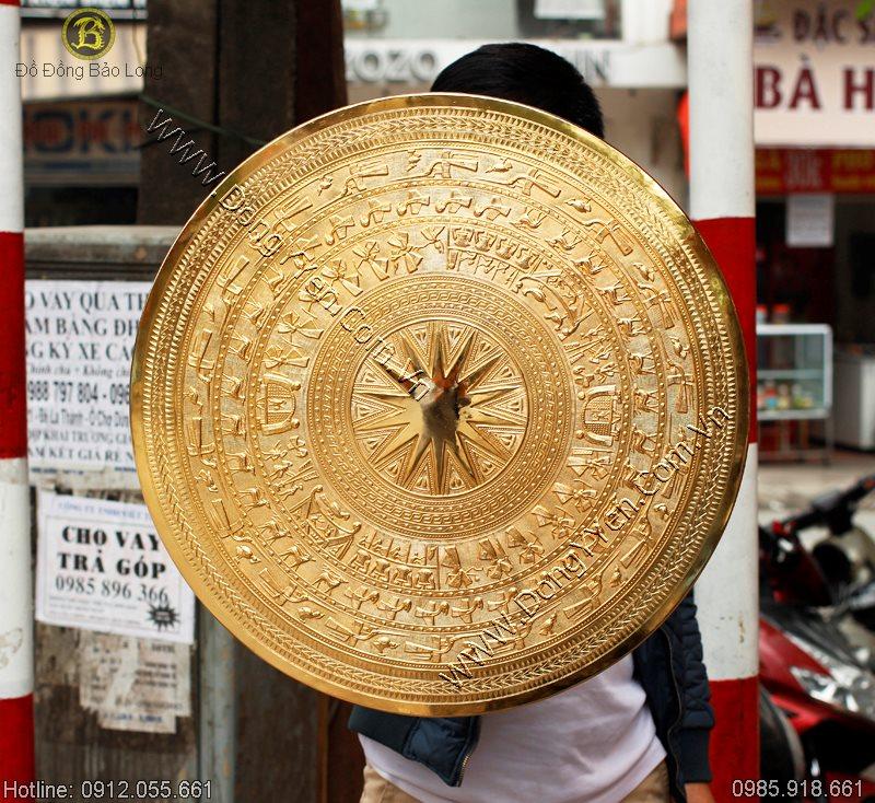 Mặt Trống Đồng Mạ Vàng 24K ĐK 60cm
