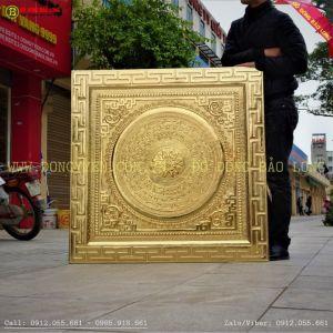 Tranh Mặt trống đồng logo rolls royce mạ vàng 24k khách Hà Nội