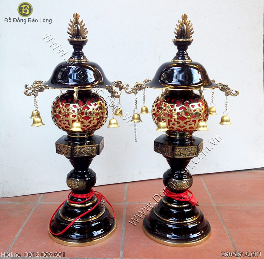 đôi đèn thờ dapha cao 62cm