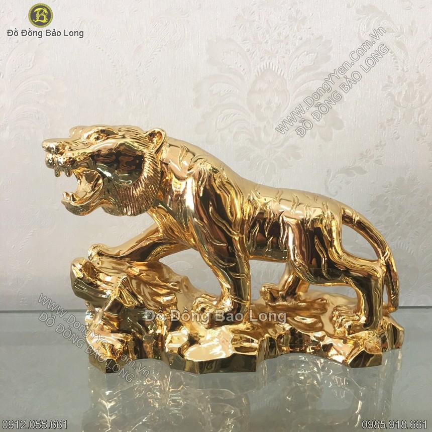 Tượng Hổ - Cọp 18cm Mạ Vàng 24k