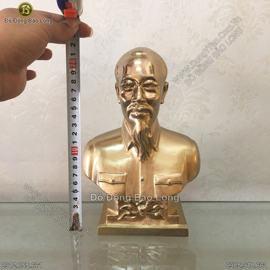 tượng đồng chân dung bác hồ cao 22cm