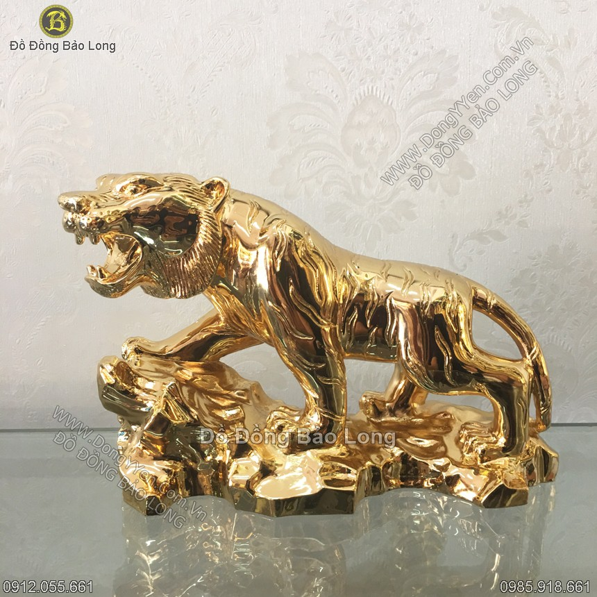 tượng hổ mạ vàng 24k