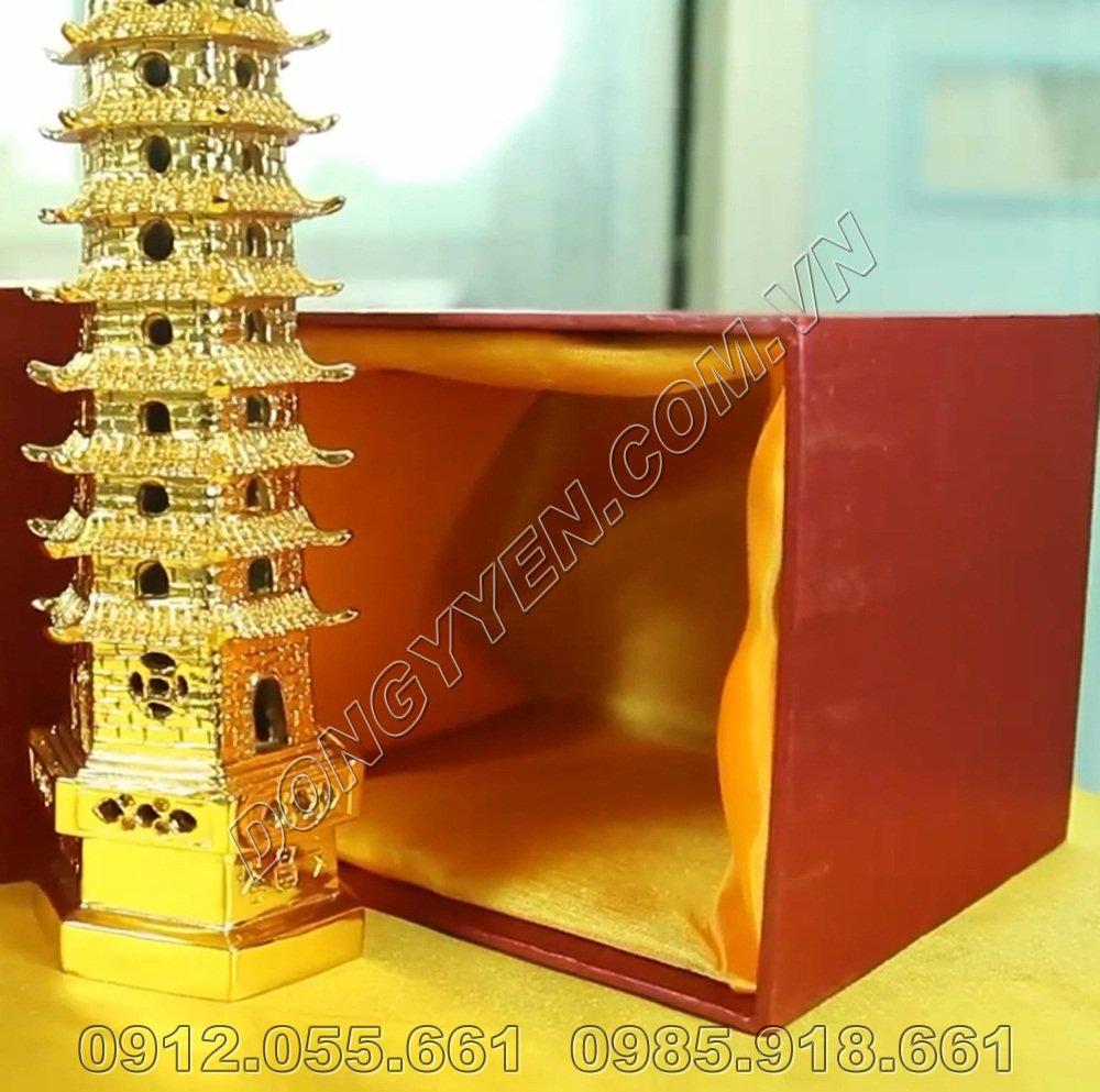 Tháp Văn Xương Mạ Vàng 24K - Quà Tặng Tháp Văn Xương