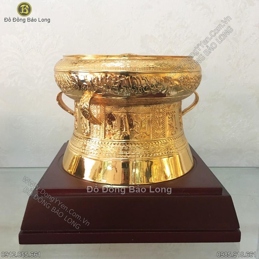 Trống Đồng Mạ vàng 24k DK 15cm
