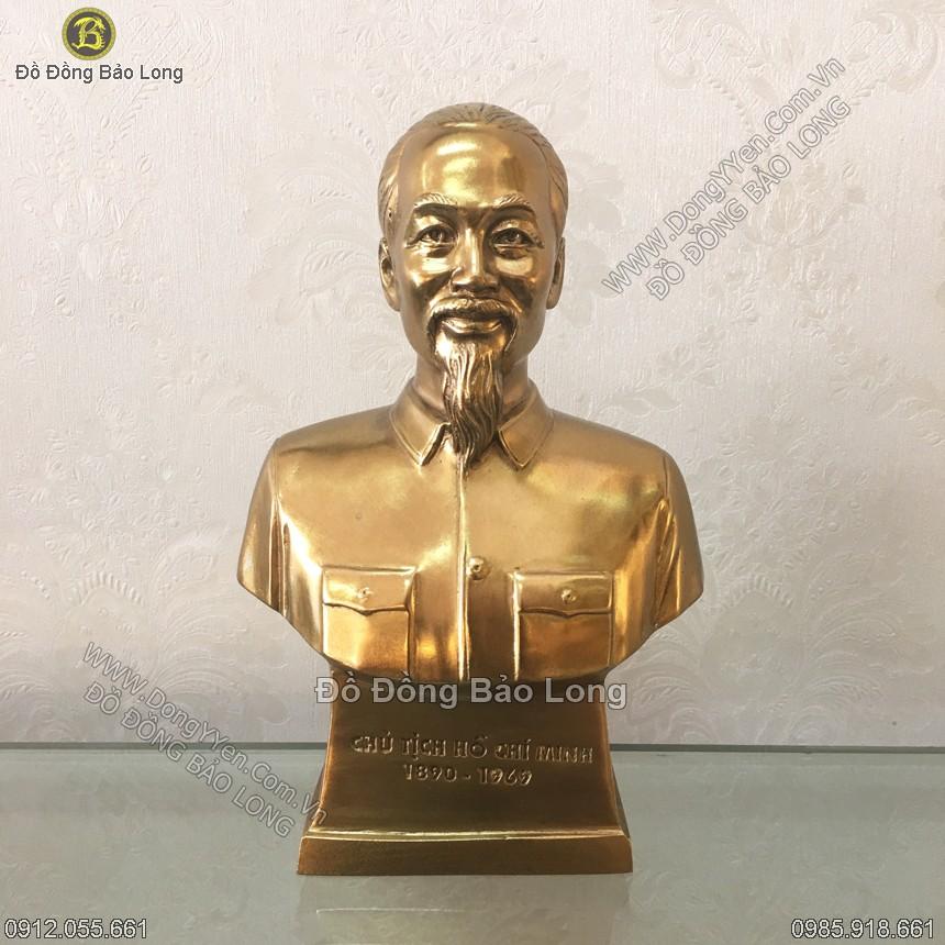 Tượng Đồng Chân Dung Bác Hồ 17cm