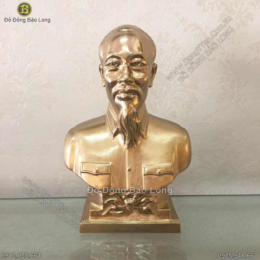 Tượng Đồng Chân Dung Bác Hồ 22cm