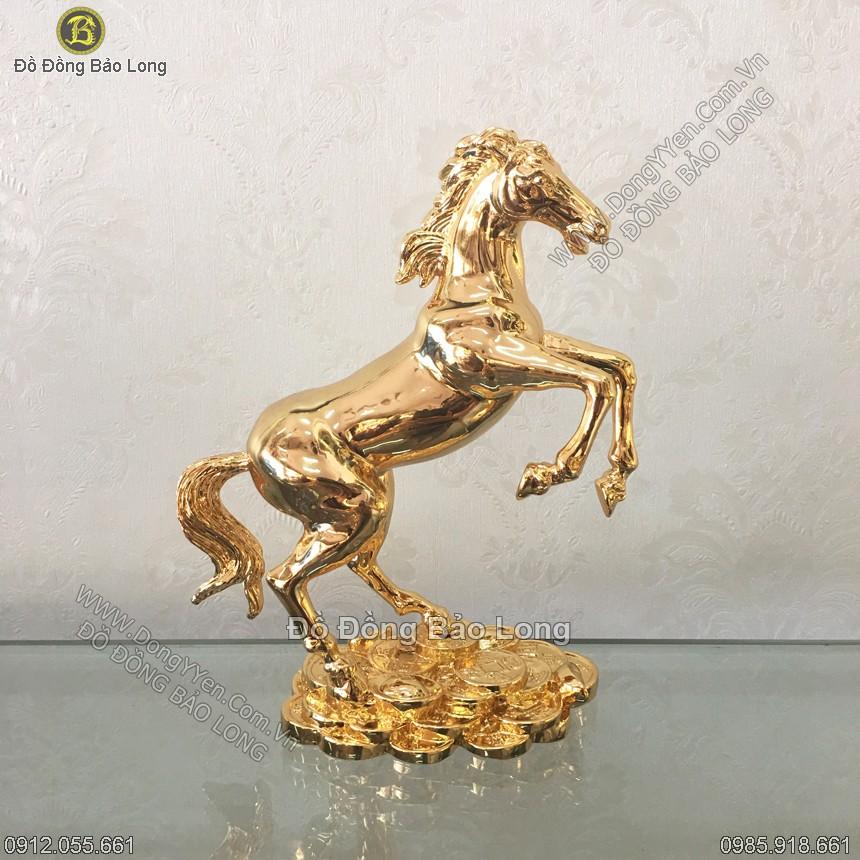 Tượng Ngựa Cao 20cm Mạ vàng 24K