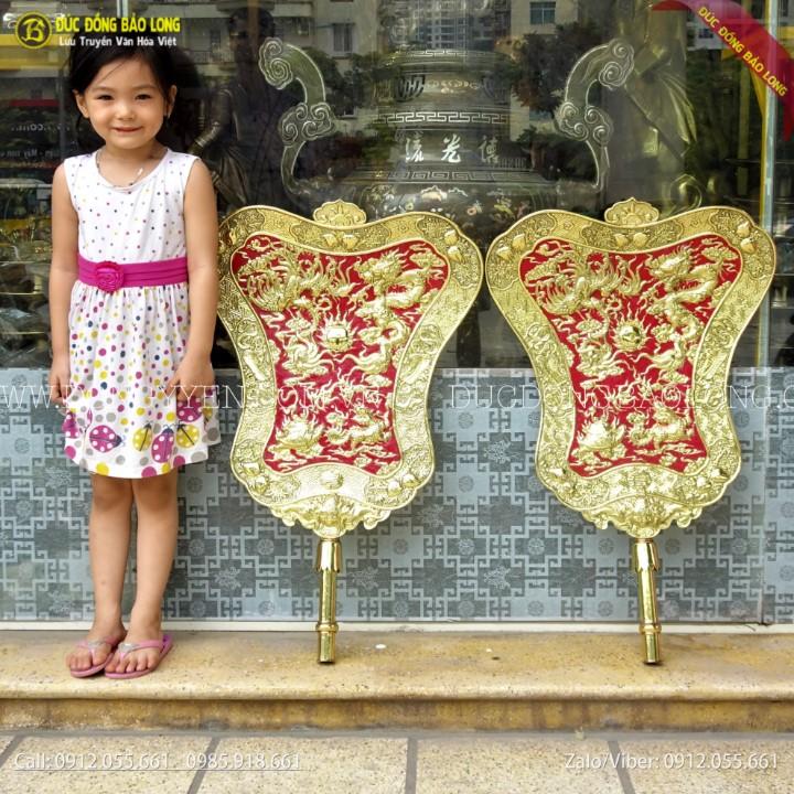 Quạt Ba Tiêu Bằng Đồng Cho Khách Cúng Tiến Cao 81cm
