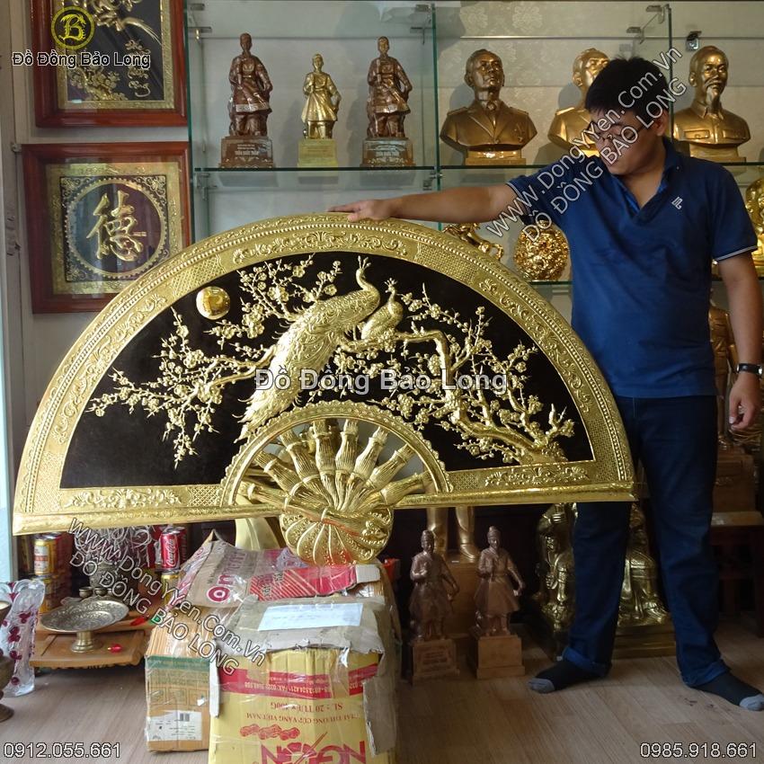 Tranh Quạt Đồng Công Mai 1m55