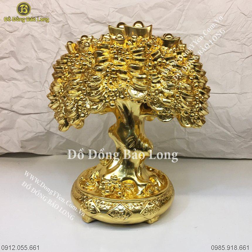Cây Tiền Dát Vàng 9999 Cao 27Cm