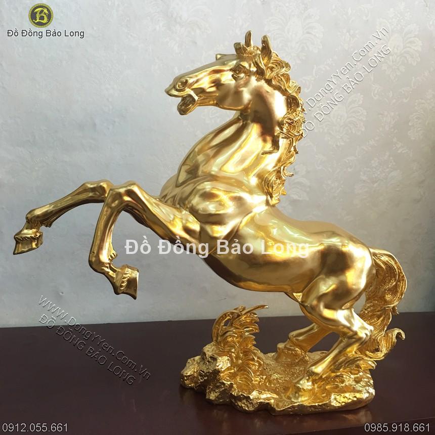 Ngựa Phong Thủy Thếp Vàng 9999 45cm