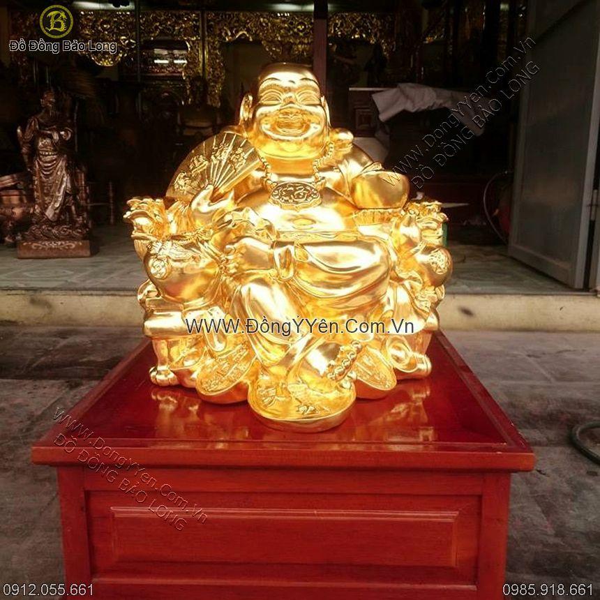 Thếp Vàng Tượng Đồng Phật Di Lặc