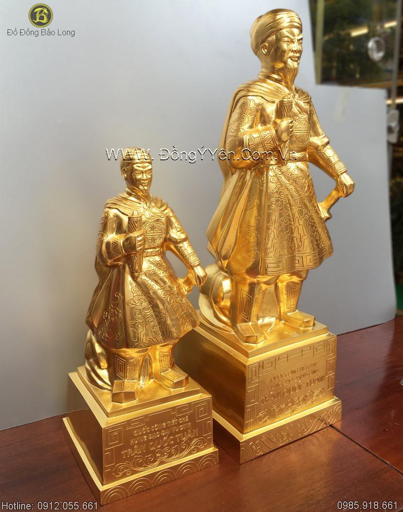 Thếp vàng Tượng Hưng Đạo Trần Quốc Tuấn