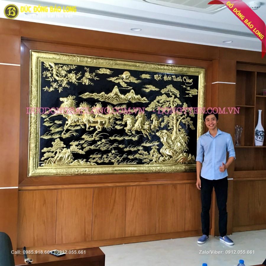 Tranh Bát Mã Khung Đồng 2m37 cho cảng Đình Vũ