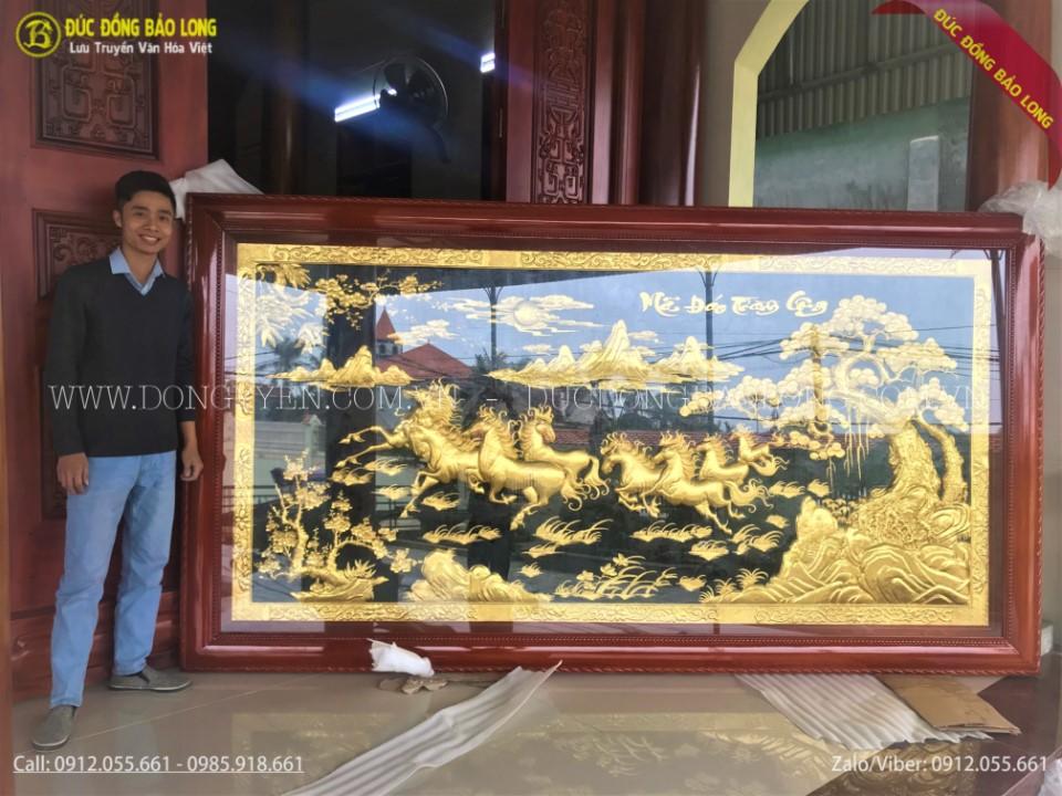 Vàng 9999: Tranh Đồng MẠ VÀNG 24K DÁT VÀNG 9999
