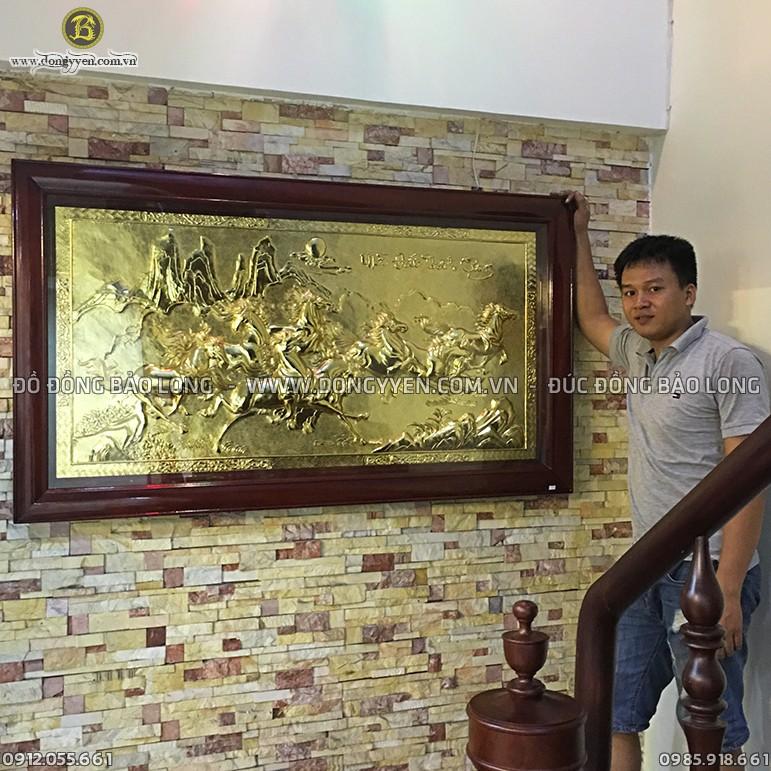 Tranh Bát Mã Mạ Vàng 24k Cho Biệt Thự Quận Tân Bình