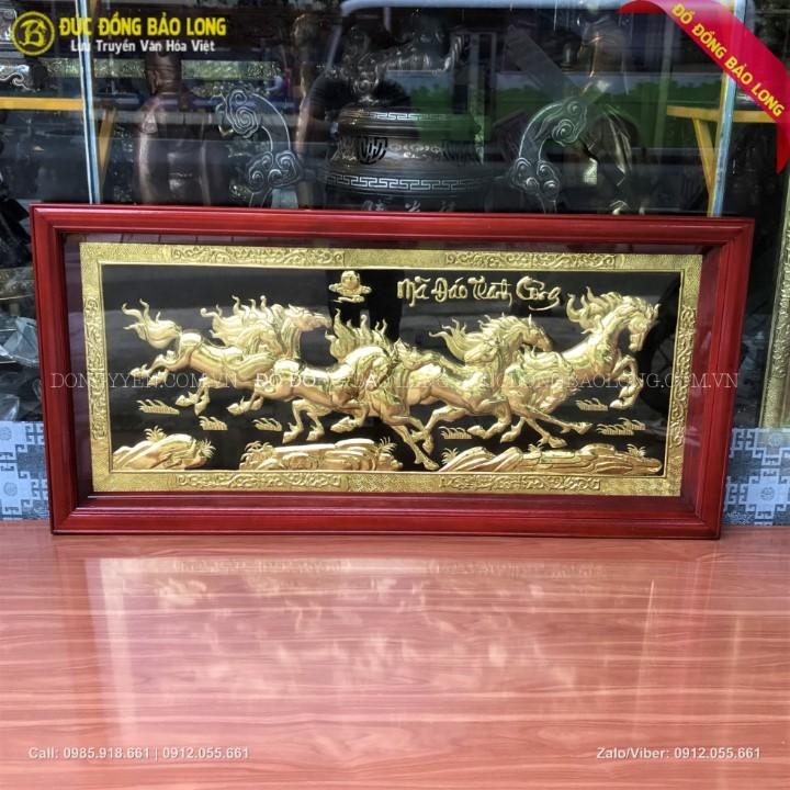 Tranh Bát Mã Truy Phong Bằng Đồng 1m27 x 68cm