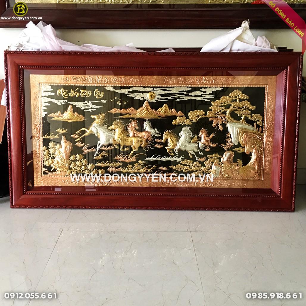 Tranh Đồng Bát Mã Mạ Tam Khí 1m76