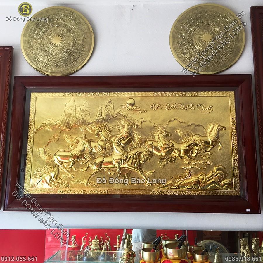 Tranh Mã Đáo Thành Công Mạ Vàng 24k 1m55