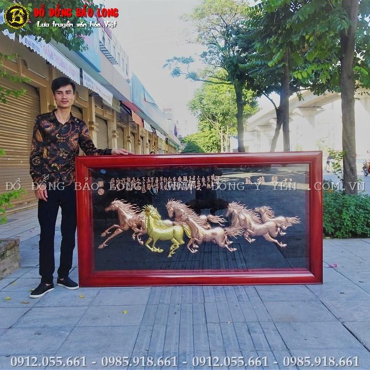 Tranh Ngựa Bằng Đồng 1m97 x 1m07