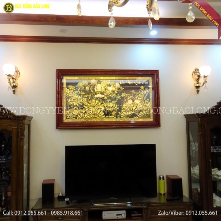 Tranh Cửu Ngư Quần Hội Bằng Đồng 2m31 Mạ Vàng 24k