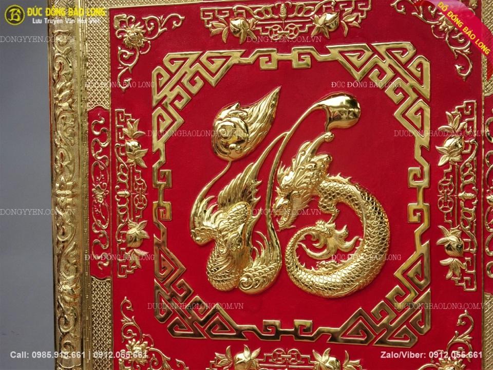 tranh chữ phúc bằng đồng mạ vàng