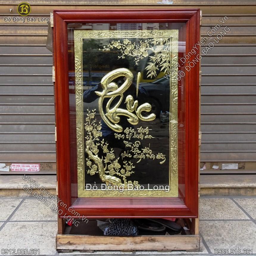 Tranh Đồng Chữ Phúc Thư Pháp 81cm