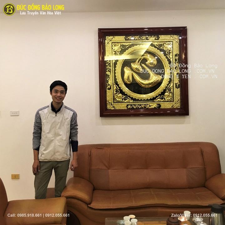 Lắp Đặt Tranh Chữ Tâm Cho Khách Tại Phạm Văn Đồng